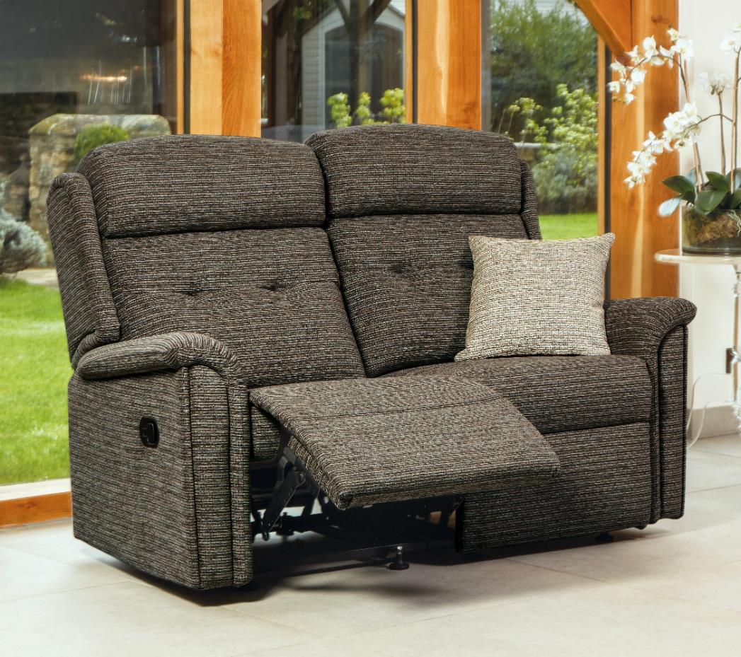 ROMA - 2 Seater Reclining Settee by Sherborne.