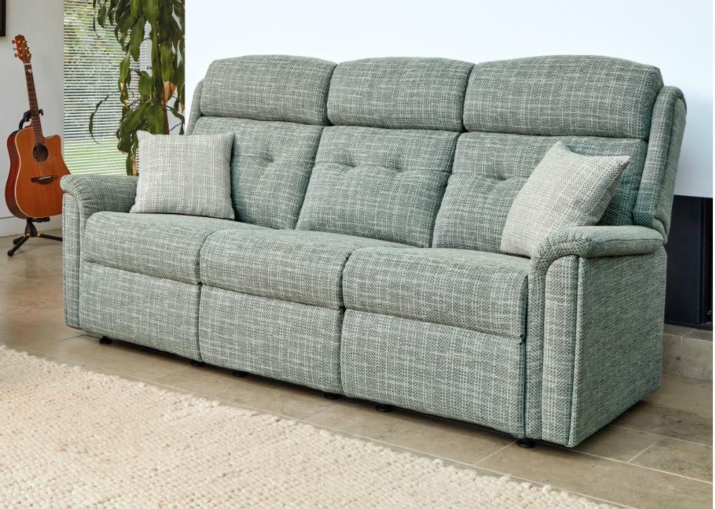 ROMA - 3 Seater Fixed Settee by Sherborne.