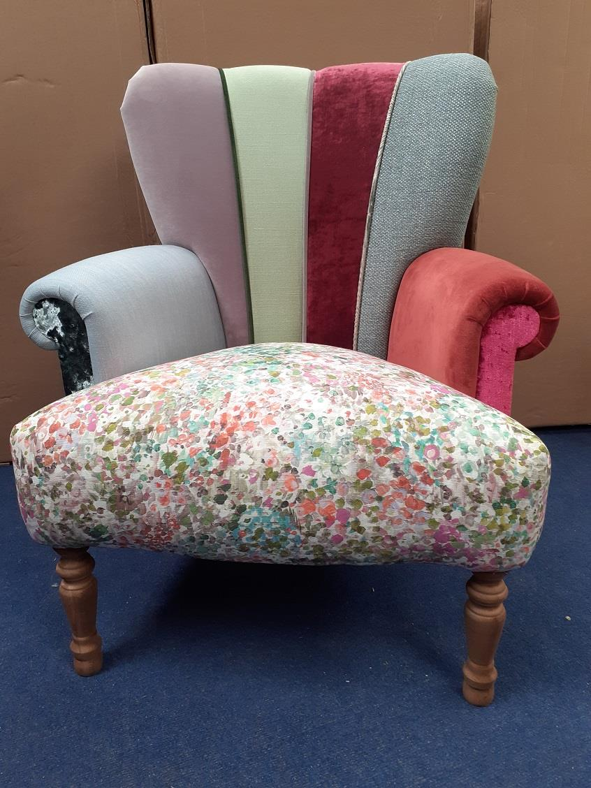HARLEQUIN Chairs by Hunter Knight Petal seat Grey Back