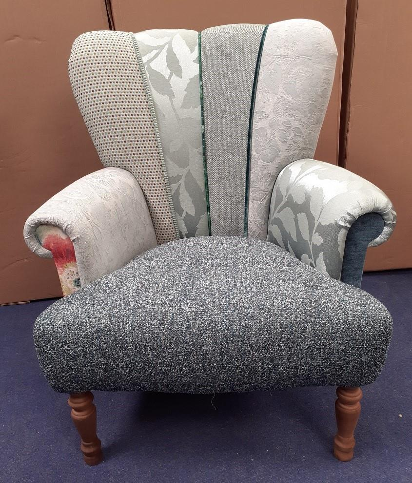 HARLEQUIN Chairs by Hunter Knight Greens & Sea Blue Back