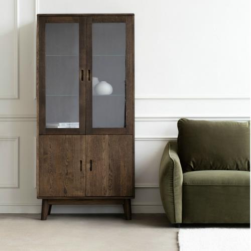 Narvik - Display Cabinet  Dark wax