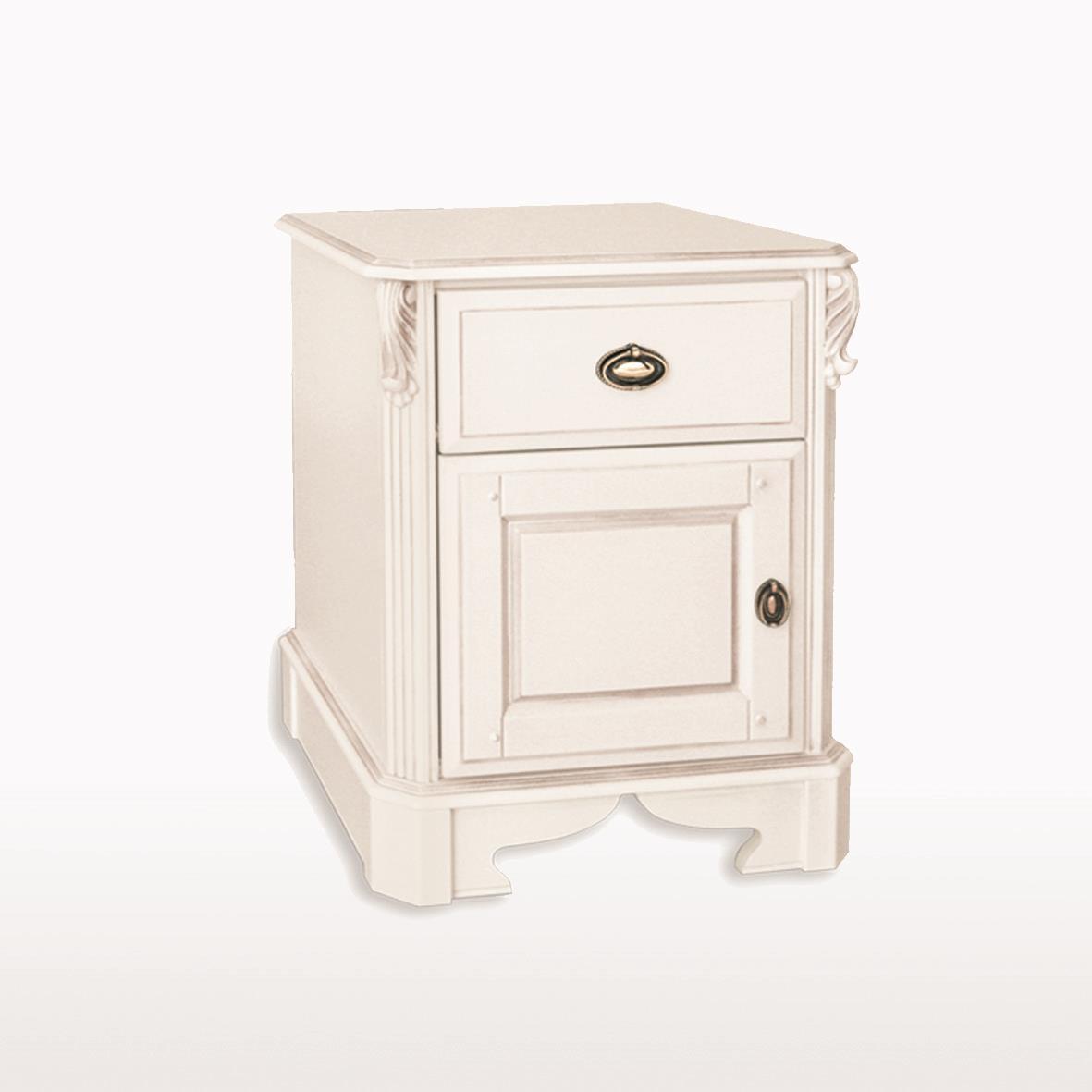 Amore' - Large 1 Drawer / 1 Door Bedside Cabinet - ABJ212