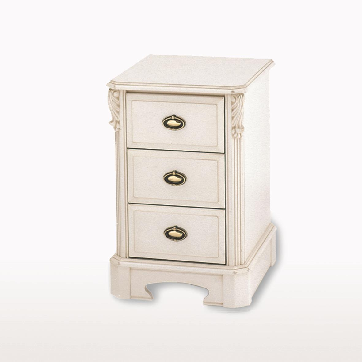 Amore' - Small 3 Drawer Bedside Chest - ABJ213