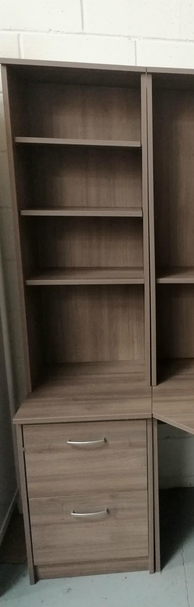 Corndell - PURE OFFICE - Tall Narrow Top Bookcase - Plum