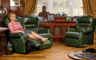 ASHFORD Leather Upholstery by Sherborne Collection