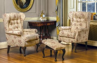 BROMPTON Wing Chairs by Sherborne