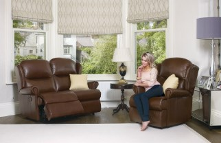 MALVERN Leather Upholstery Collection - by Sherborne
