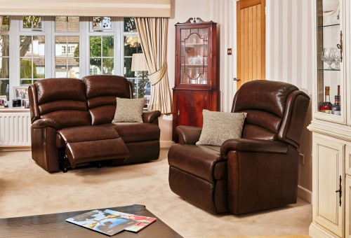 OLIVIA Leather Upholstery Collection - by Sherborne