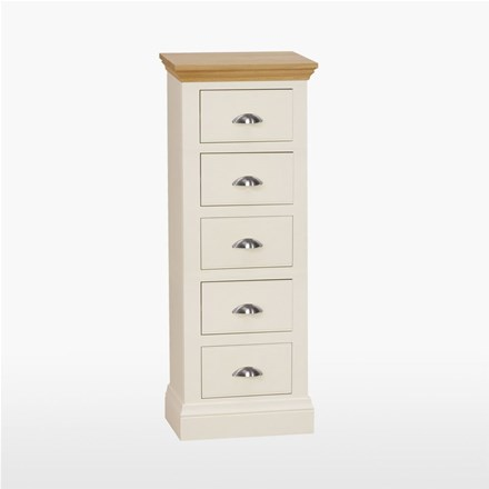 Coelo - Narrow 5 Drawer Chest  (Wellington) COL804
