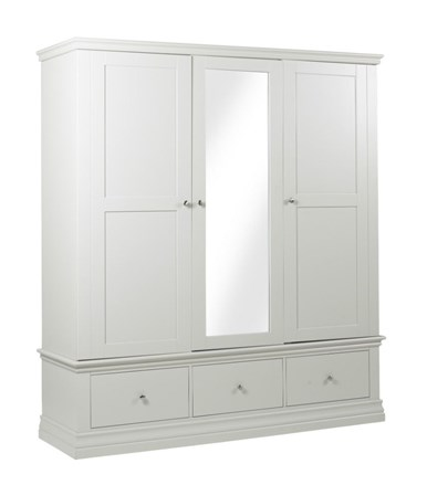 Annecy - Triple Wardrobe with 3 Drawers - 225