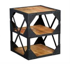 ASCOT Industrial Side Table / Multi Media Unit