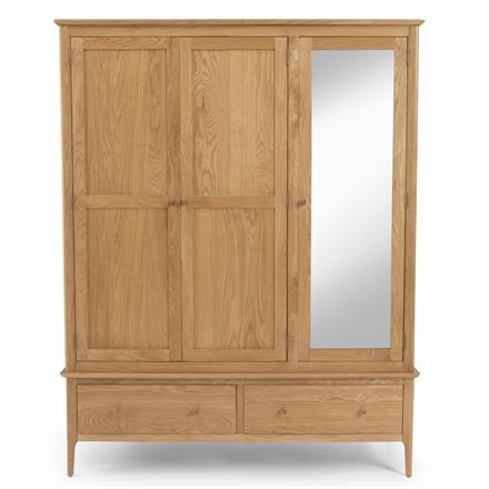 CORFE - Triple Wardrobe with Mirror