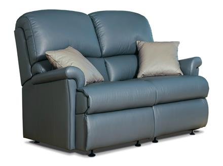Nevada Leather 2 Str Settee - by Sherborne