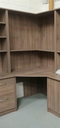 Corndell PURE OFFICE - Corner Desk & Top - Plum