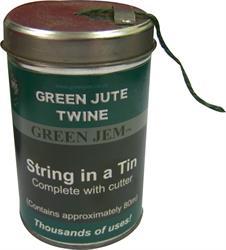 Green Jem 80mtr Cotton Jute Twine in a Tin