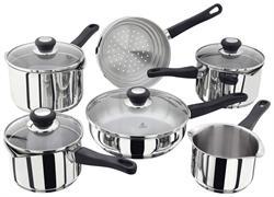 Judge Vista 6 Piece Induction Cookware Set with Draining Lids