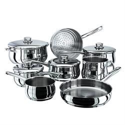 Stellar 1000 8 Piece Induction Saucepan Set Stainless Steel