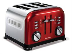 Morphy Richards Toaster 4 Slice Accents Red