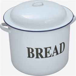 Falcon Round White Enamel Bread Bin with Blue Trim&categoryID=11239
