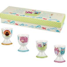 The Owl & The Pussy Cat Set of 4 Egg Cups