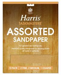 Harris Glass Paper Sandpaper Packs of 5