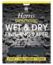 Harris Wet & Dry Sandpaper 4 Pack