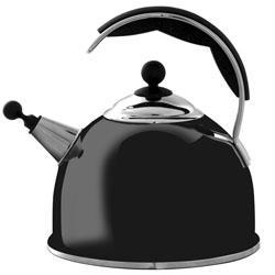 AGA Hob Top Black Whistling Kettle Stainless Steel 2.2L