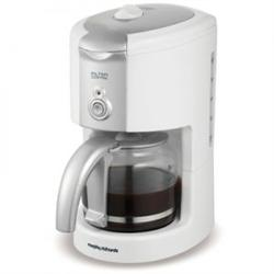 Morphy Richards Filter Coffee Maker White with 10 Cup Capacity