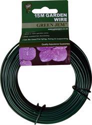 Green Jem Green Garden Wire 15 Metre PVC Coated