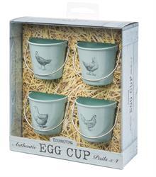 Eddingtons Egg Cups Vintage Pails Set of 4 - Hen