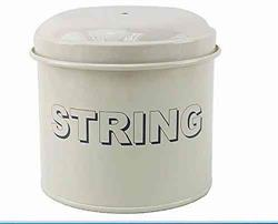 Home Sweet Home Cream Enamel String Box
