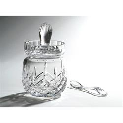 Swartons Winchester Crystal Glass Honey Pot with Spoon