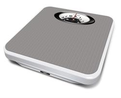 Salter Chrome Mechanical Bathroom Scales with Magnified Diplay