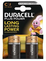 Duracell Plus C Batteries 2 Pack