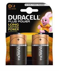 Duracell Plus D Batteries 2 Pack