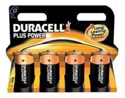 Duracell Plus D Batteries 4 Pack