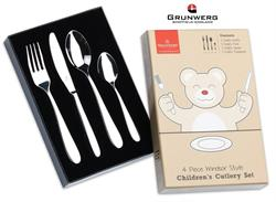 Grunwerg Childrens Kids Cutlery Set Windsor Style