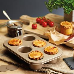 Paul Hollywood Non-Stick 6 Hole Loose Base Deep Pie Pan