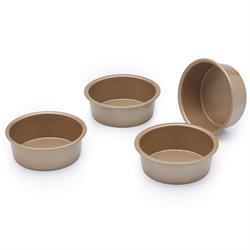 Paul Hollywood Set of 4 Non-Stick Mini Round Baking Tins