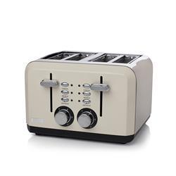 Haden Perth Sleek Taupe 4 Slice Toaster