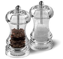 Cole & Mason Precision Capstan 145 Acrylic Salt & Pepper Mill