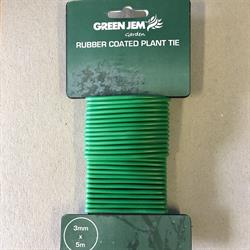 Green Jem Rubber Coated Plant Tie 3mm x 5m