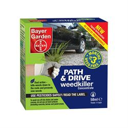 Bayer Garden Path and Drive Weedkiller Concentrate 50 ml