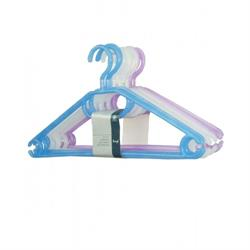 Set of 10 Translucent Clothes Hangers with Turnable Hooks