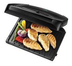 George Foreman 6-Portion Entertaining Grill with Removable Plates