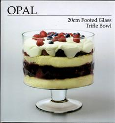 Opal 20cm Footed Glass Trifle Bowl