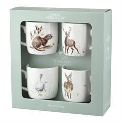 Wrendale 4pk Mug gift set