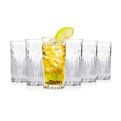 RCR Fire Crystal Hi-Ball Glasses, Set of 6
