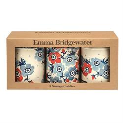 Emma Bridgewater Anemone Set of 3 Storage Caddies