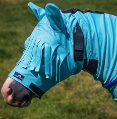 Anti-Itch Horse Mask - Haint Blue